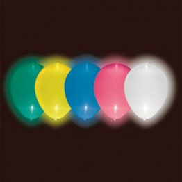 BUSTA 5 PALLONCINI LUMINOSI CON LED